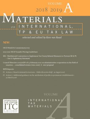 Materials on International, TP and EU Tax Law 2018-2019, Vol. A