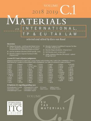 Materials on International, TP and EU Tax Law 2018-2019, Vol. C.1