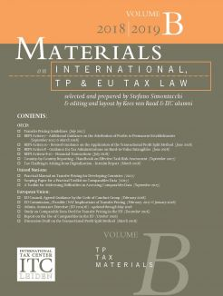 Materials on International, TP and EU Tax Law – VOLUME B (October 2018)