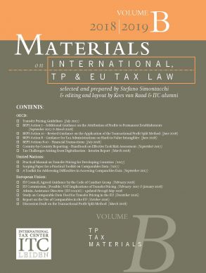 Materials on International, TP and EU Tax Law 2018-2019, Vol. B