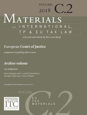 Materials on International, TP and EU Tax Law 2018-2019, Vol. C.2